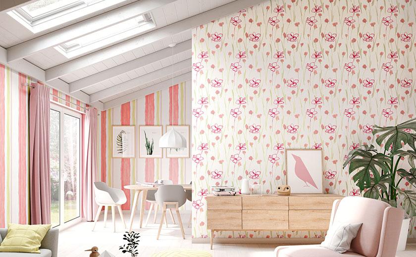 speziell f r kinder und teenager gibt es tapeten in den. Black Bedroom Furniture Sets. Home Design Ideas