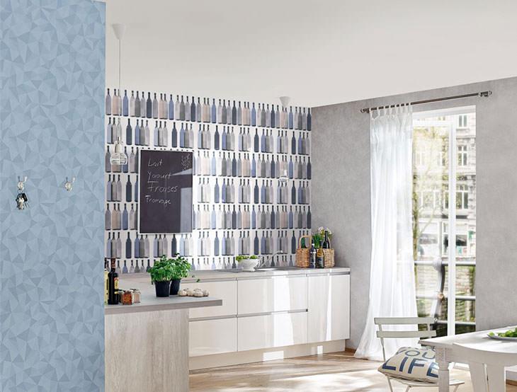 Tapeten für die Küche - Tapete statt Fliesenspiegel / Tapeten Magazin