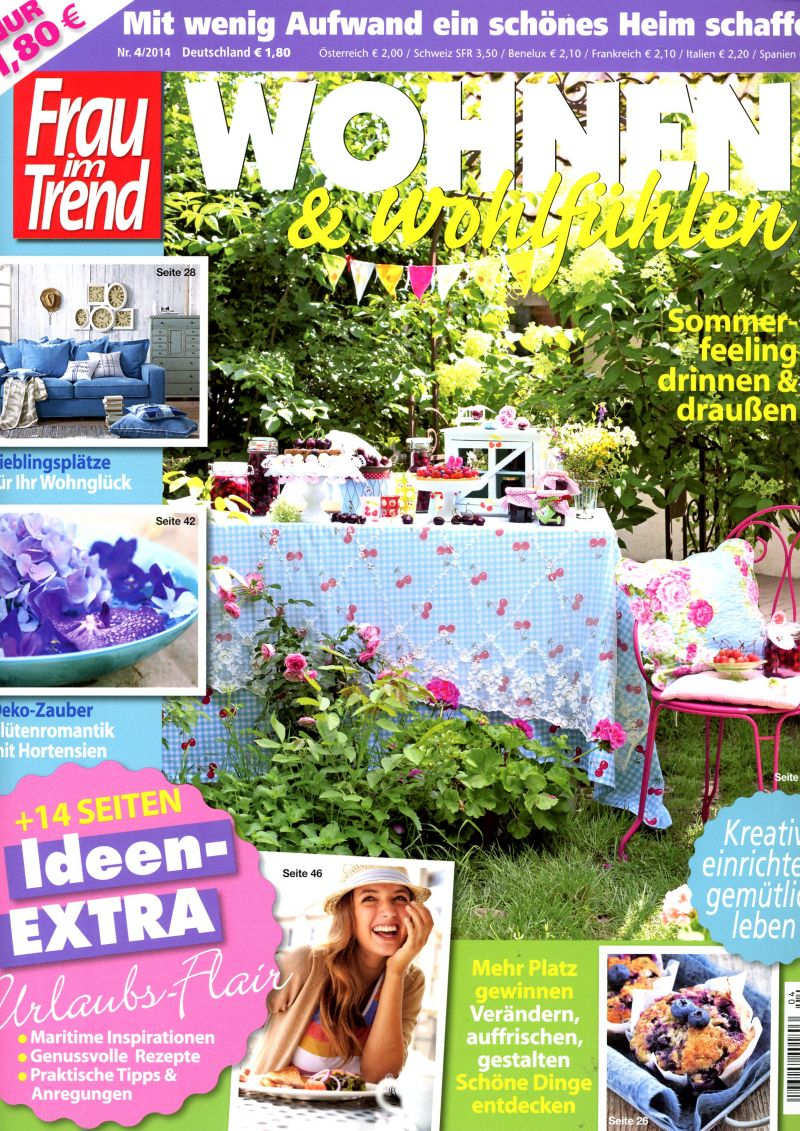 Presseclippings tapeten magazin for Trends wohnen