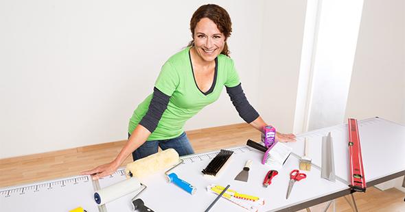 das deutsche tapeten institut hilft beim tapezieren tapeten magazin. Black Bedroom Furniture Sets. Home Design Ideas